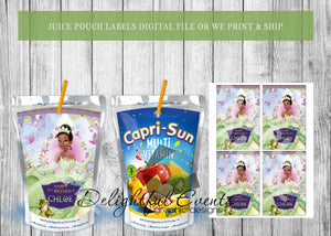 Princess and the Frog Juice Pouch Labels