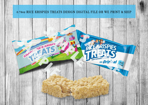 Rice Krispies Treats Wrappers Birthday or Baby Shower - Printed ONLY (Please Read Item Description)