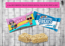 Load image into Gallery viewer, Rice Krispies Treats Wrappers Birthday or Baby Shower - Printed ONLY (Please Read Item Description)