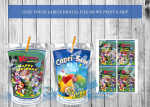Mickey Roadsters Juice Pouch Labels