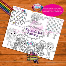 Load image into Gallery viewer, Shimmer & Shine Activity Sheet