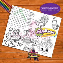 Load image into Gallery viewer, shopkins activity sheet
