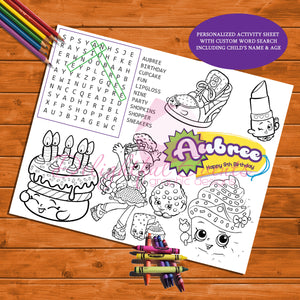 shopkins activity sheet