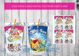 Shopkins Juice Pouch Labels