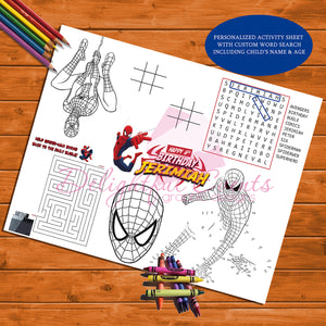Spiderman Activity Sheet