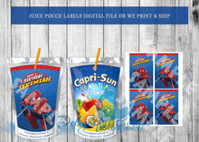 Load image into Gallery viewer, Spiderman Juice Pouch Labels