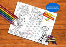 Load image into Gallery viewer, Activity & Coloring Sheets Personalized - Printed ONLY (Please Read Item Description)