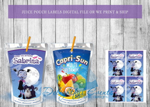 Vampirina Juice Pouch Labels