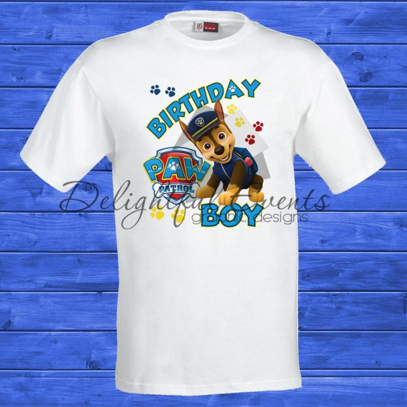 Load Image Into Gallery Viewer Paw Patrol Birthday T Shirts Design Only No