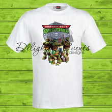 Load image into Gallery viewer, Ninja Turtles Birthday T-Shirts (Design Only No Prints)