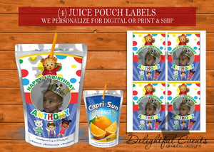 Daniel Tiger Juice Pouch Labels