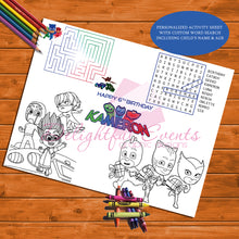 Load image into Gallery viewer, PJ Masks Activity Sheet