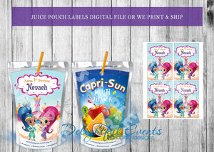 Shimmer and Shine Juice Pouch Labels