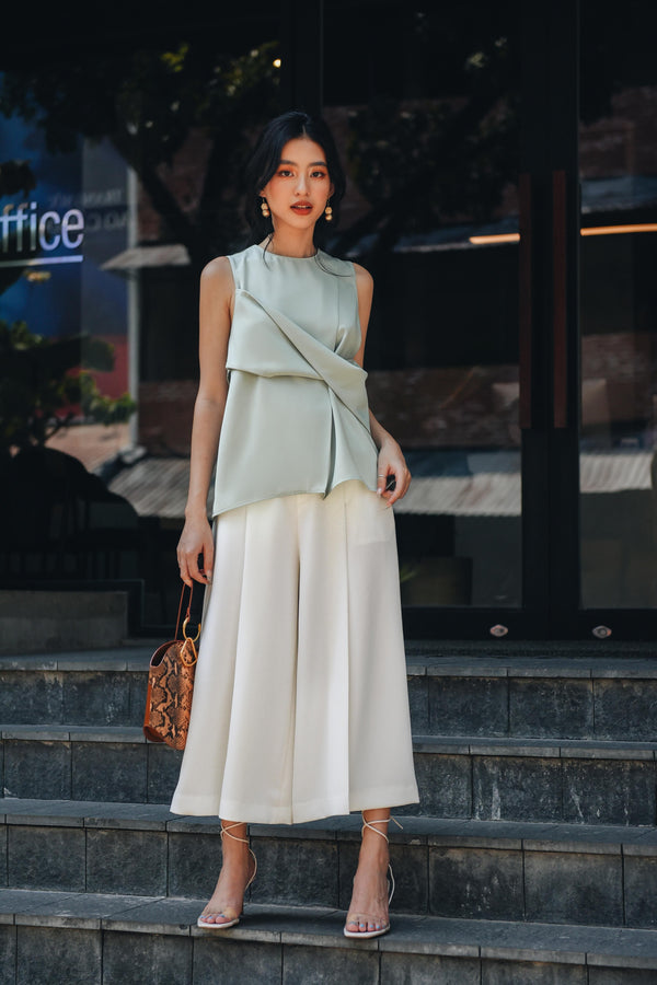White Belted Culottes