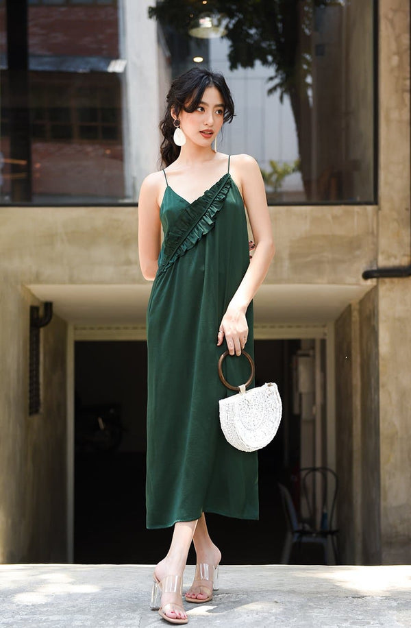 Green Leave Cami Dress