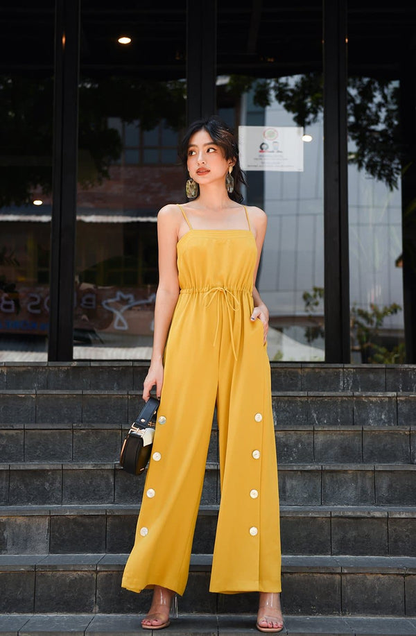 Yellow Cami Jumpsuit