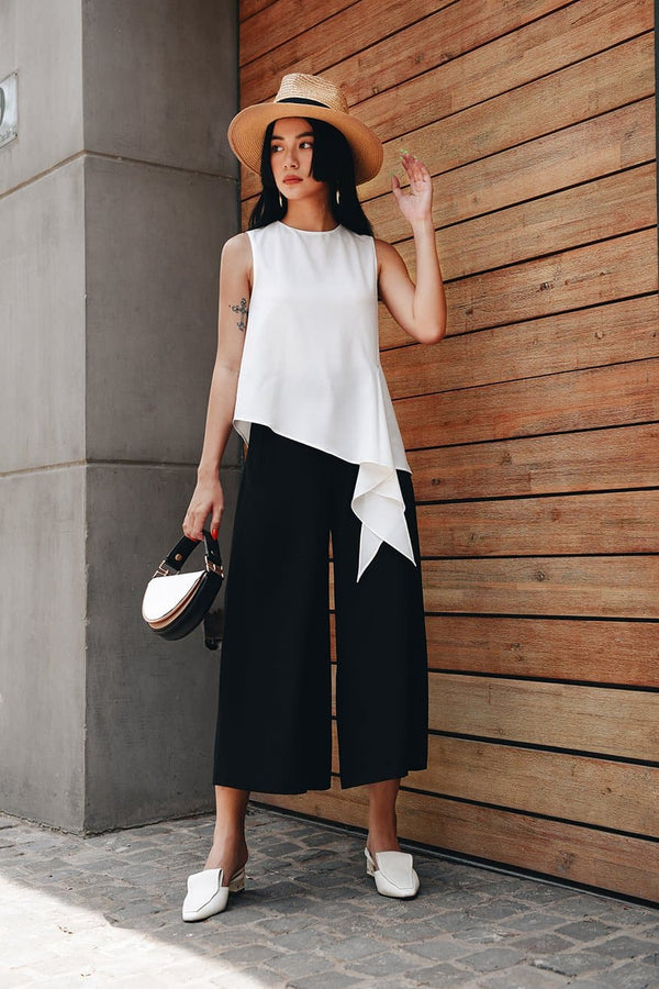 White Knotted Sleeveless Top