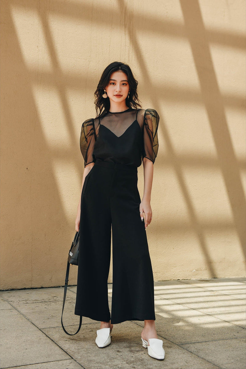 Black Wide-Leg Trousers