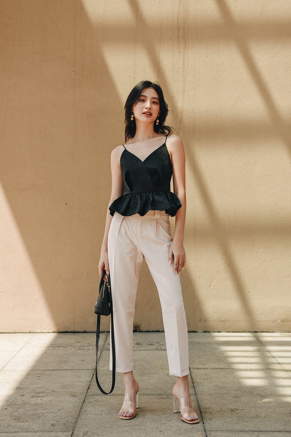 Latte Belted Trousers