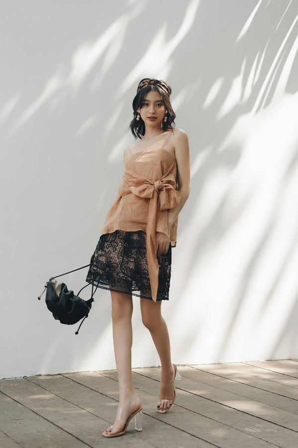 Black Lace A-line Skirt