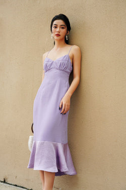 Lilac Cami Dress With Ruffle