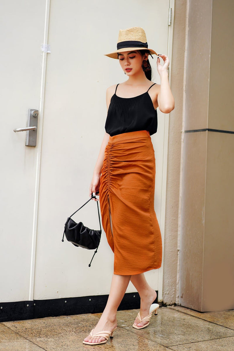 Clay Frilled Skirt