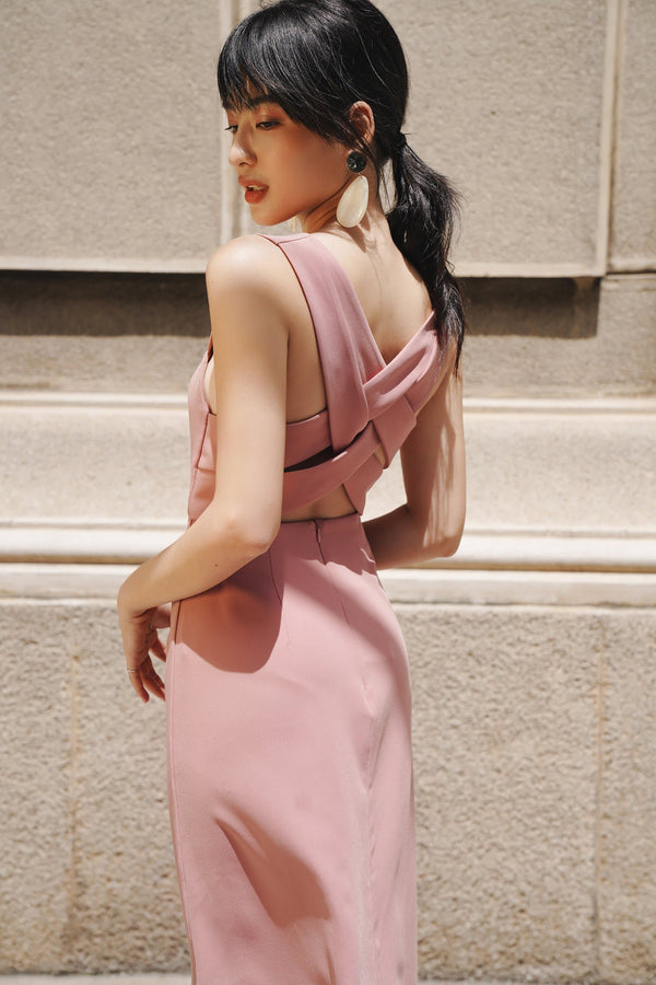 Pink String-Back Cami Dress