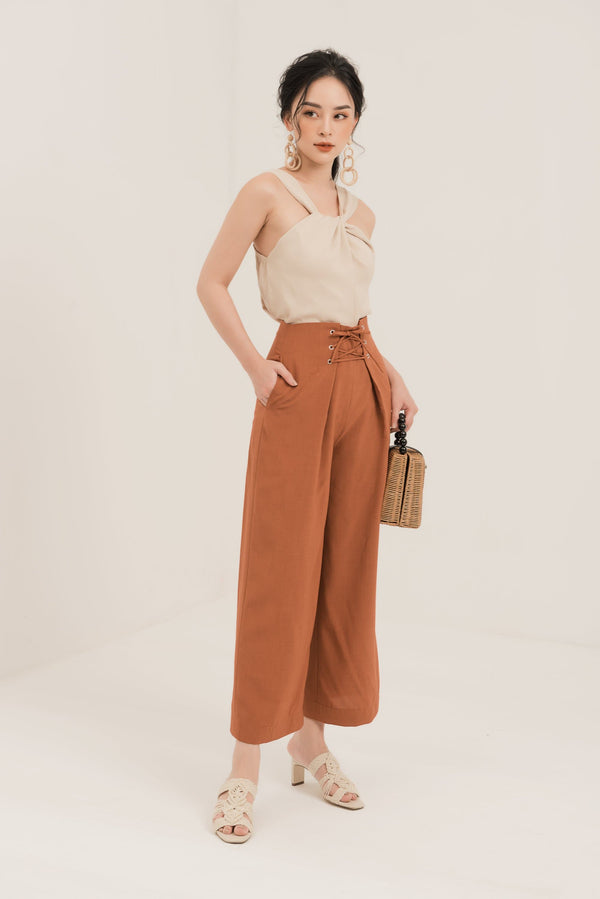 Burnt Orange High Waist Trousers