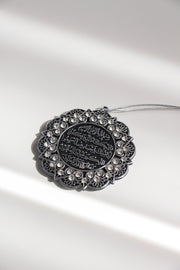 Embossed Hanging Accessories - Silver Design 2