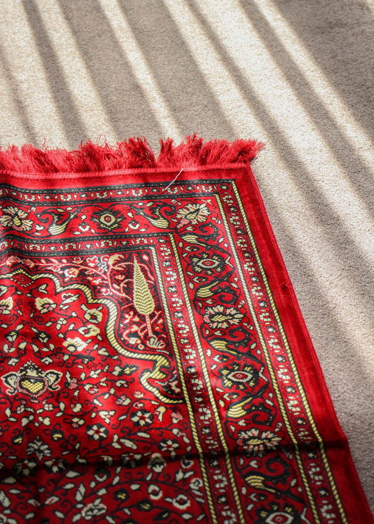 Prayer Mat - Dark Floral Design