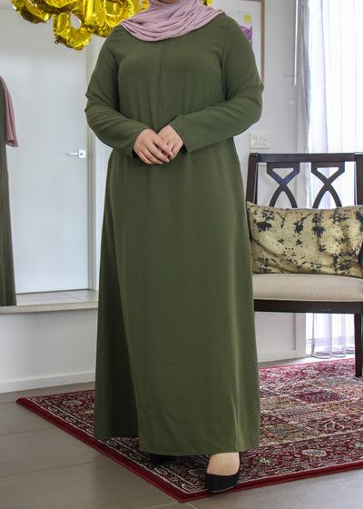 Classic Dress - Olive Green