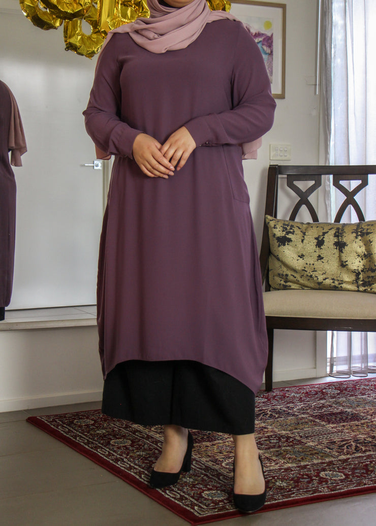 Tunic with Pockets - Vintage Violet