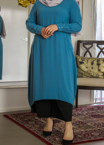Tunic with Pockets - Dusk Blue