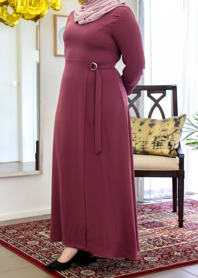 Belted Dress - Rose