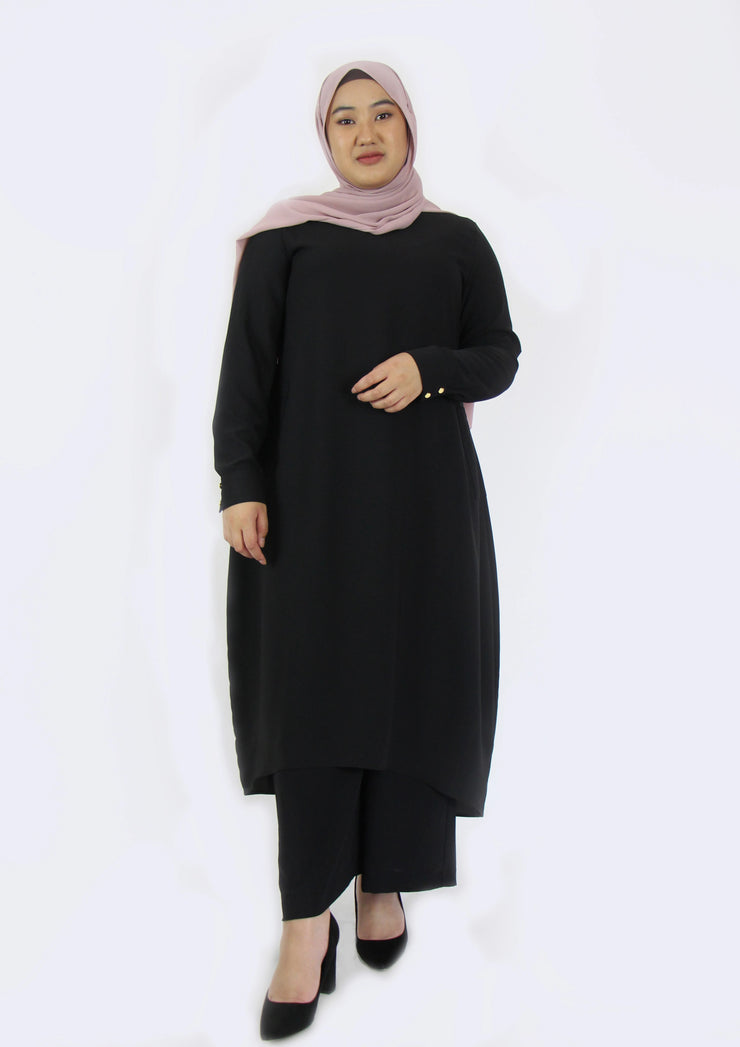 Tunic with Pockets- Black
