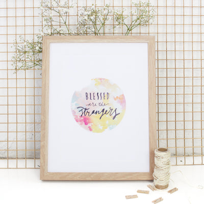BLESSED // Islamic wall art print (peach)