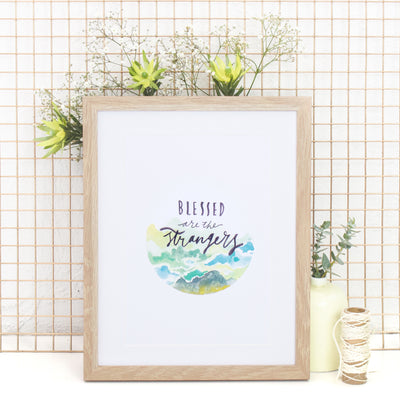 BLESSED // Islamic wall art print (green)