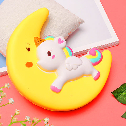 Magical Unicorn Moon Squishy