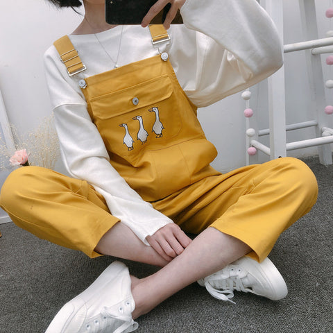 Cute Ankle Length Geese Jumpsuit