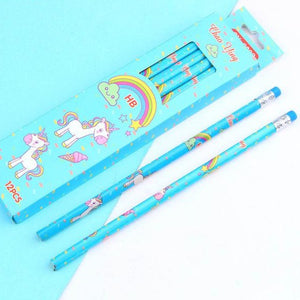 Kawaii Unicorn Pencils
