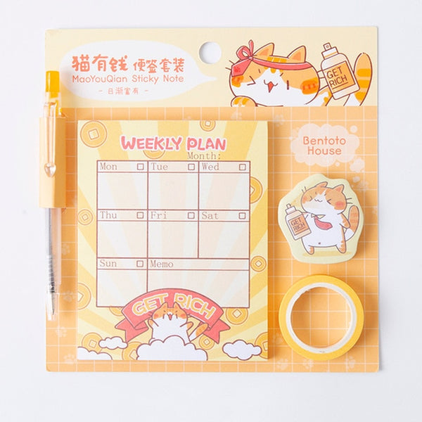 Kawaii Cat Memo Pads