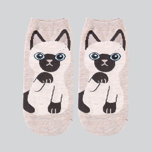 Kawaii Cat Cotton Ankle Socks