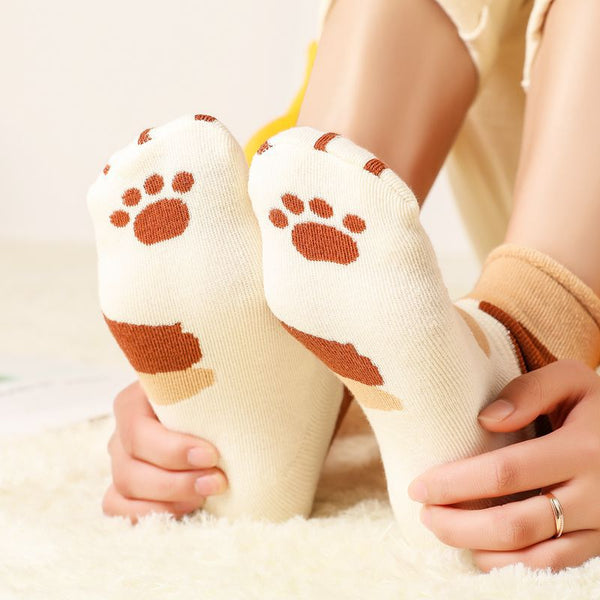 Kawaii Cat Paw Cotton Socks