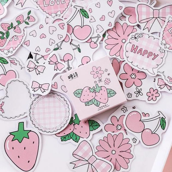 Pink Kawaii Stickers