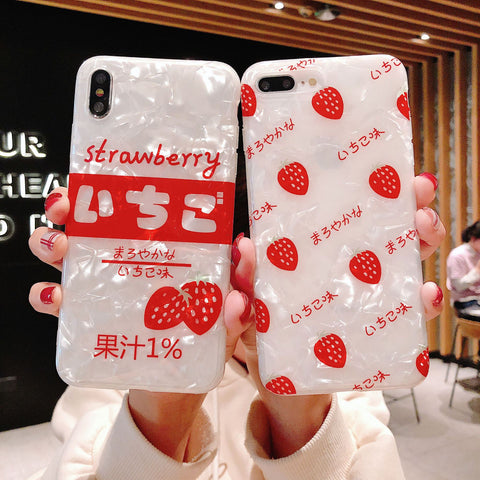 Japanese Strawberry Case for iPhone