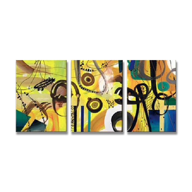 3 Panels/Set Contemporary Abstract Lines Oil Painting