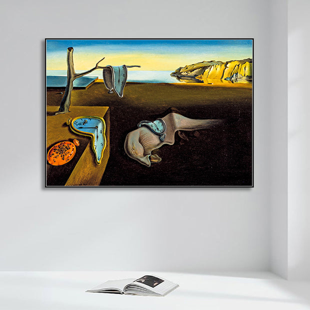 Memory Clocks Surreal Canvas Wall Art
