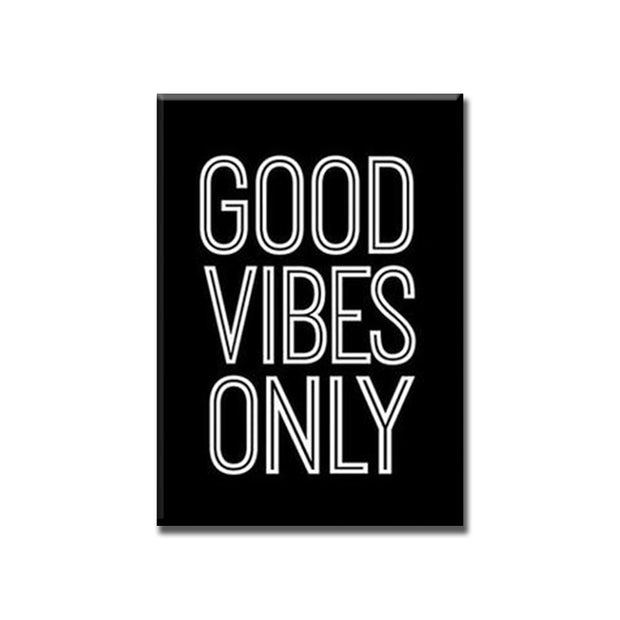 2 Piece Good Vibes Only Print Pineapple Poster