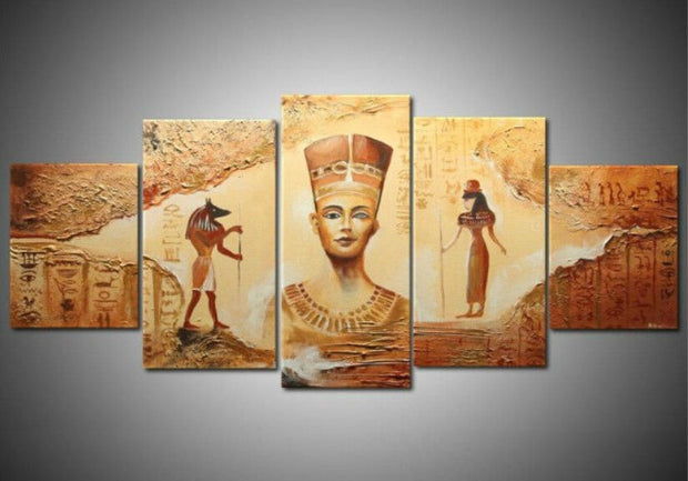 5 Pieces Egyptian Contemporary Abstract Wall Art