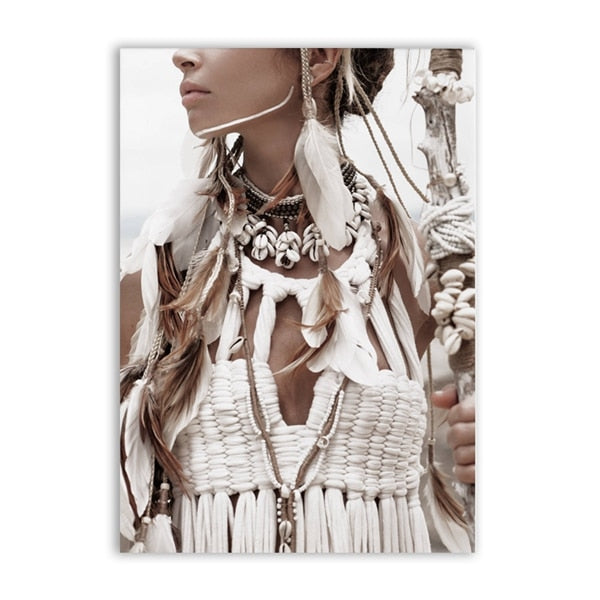 2 Pieces Native American Indian Girl